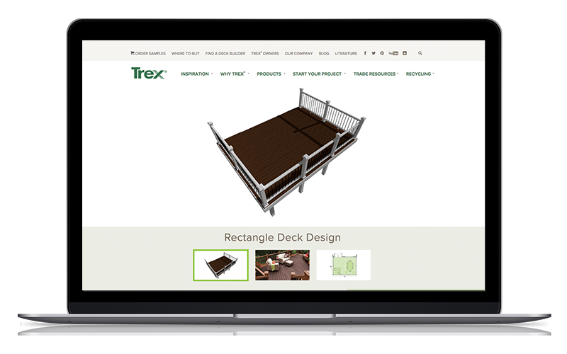 The new Trex Deck Designs make planning your deck build easier and faster.